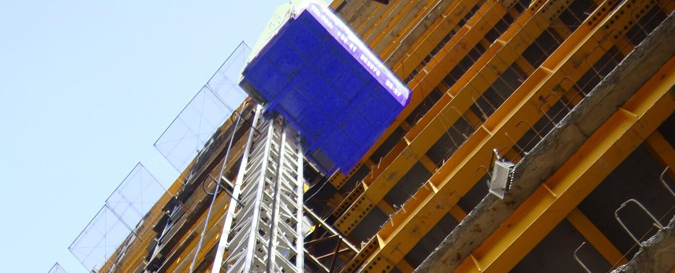 آسانسور کارگاهی در سازه فلزی